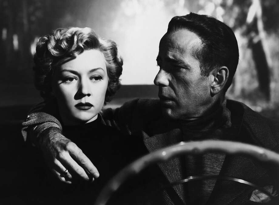 "Gloria Grahame and Humphrey Bogart in ""In a Lonely Place""  Gloria Grahame and Humphrey Bogart in Nicholas Ray's IN A LONELY PLACE (1950). Courtesy Sony Pictures Repertory/Film Forum. Playing 7/17-7/23. Photo: Columbia Pictures 1950, Columbia Picgtures 1950"