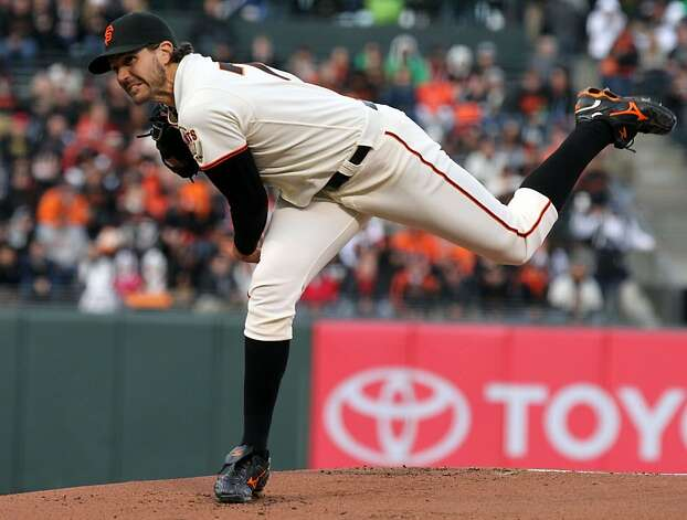 San Francisco Giants starting pitcher Barry Zito throws to the Miami Marlins during the first inning of their MLB baseball game Wednesday, May 2, 2012 in San Francisco Calif. Photo: Lance Iversen, The Chronicle