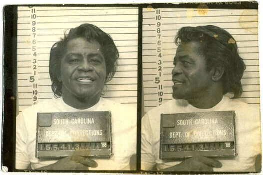 The Godfather of Soul James Brown made the list again, this time in 1988 looking slightly worse for the wear after leading the police on a heady car chase from South Carolina to Georgia.