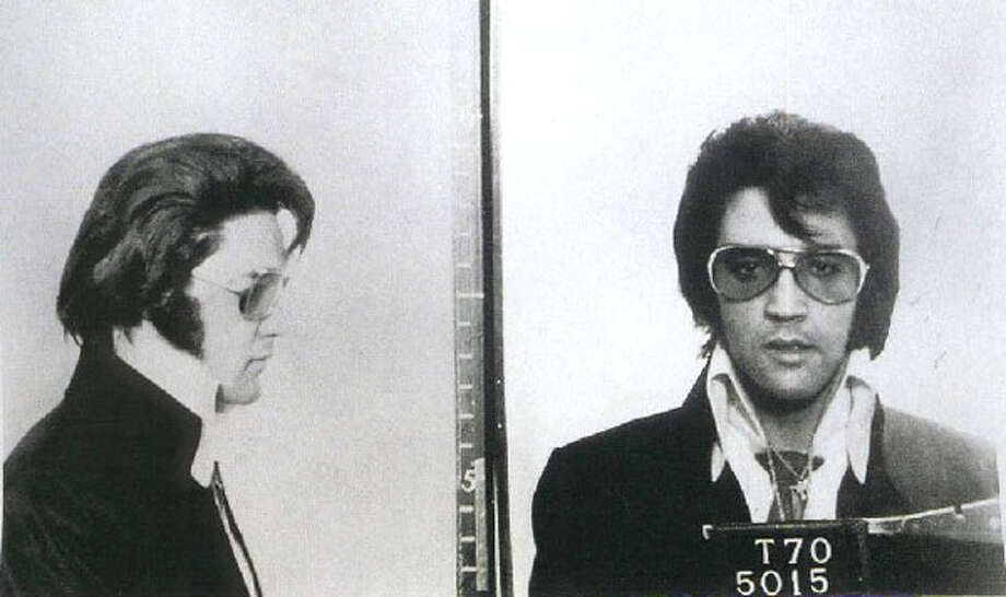 The King, Elvis Presley, was taken just for fun while he was visiting FBI headquarters in 1970. Really.