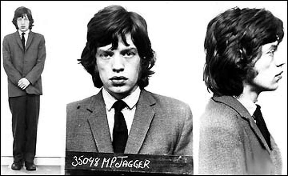 Mick Jagger (1967): Arrested during a raid on Keith Richards' home in England. The mug shot to put all other mug shots to shame.