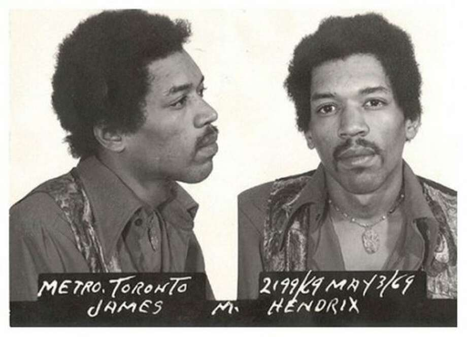 Jimi Hendrix (1969): The guitar god avoided jail time in Toronto by claiming the drugs in his possession didn't actually belong to him. So that excuse actually worked at least once.