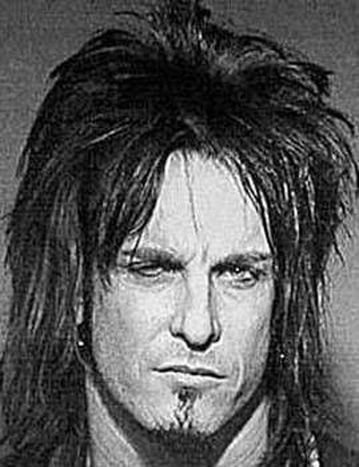 Nikki Sixx of Motley Crue (1999): Arrested for provoking a breach of peace at the Mandalay Bay Event Center in Las Vegas. Did they not read the part about how he's in Motley Crue?