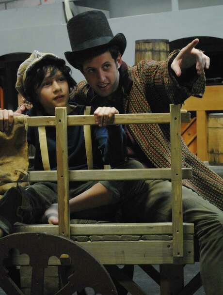 """Diego Martinez (left) and Trevor Chauvin appear in the Sheldon Vexler Theatre's staging of """"Oliver!"""" Photo: Courtesy, Dylan Brainard"""