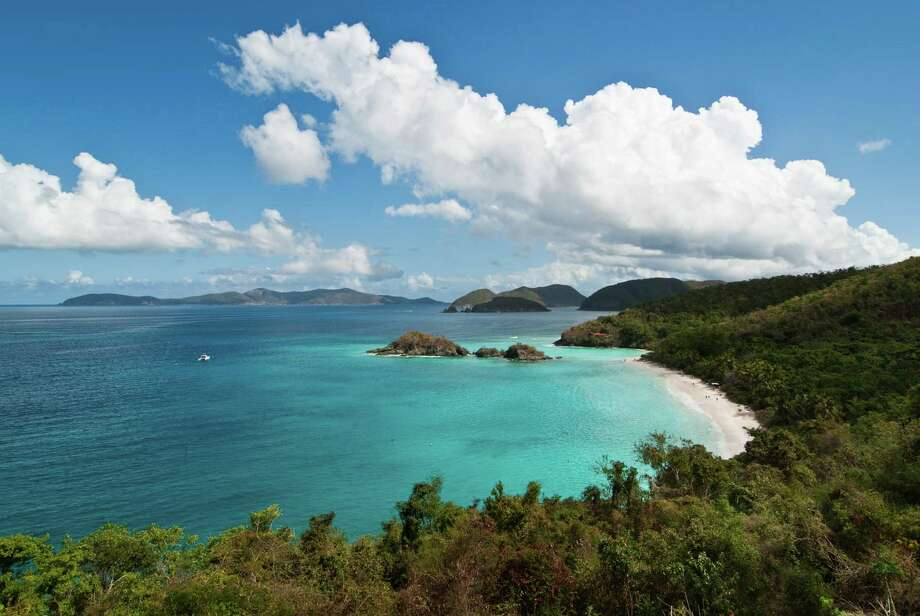Part of the Virgin Islands National Park, Trunk Bay on St. John is a favored spot for sunning and snorkeling.  Photo: David Swanson