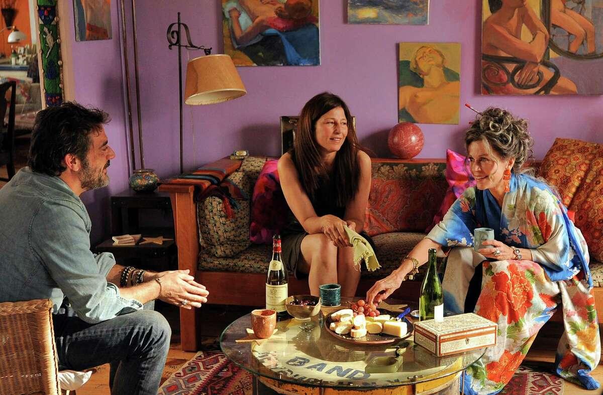 Jeffrey Dean Morgan, left, Catherine Keener and Jane Fonda in