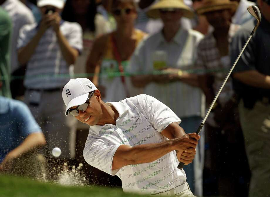 Tiger Woods shot an opening-round 71 at the Wells Fargo Championship. Photo: AP
