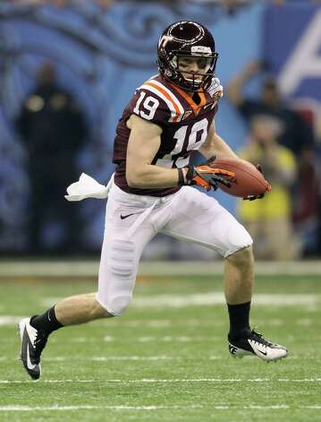 Dallas hopes Danny Coale, a fifth-round pick out of Virginia Tech, can fill the void at the third receiver spot. Photo: Matthew Stockman, Getty Images / 2012 Getty Images