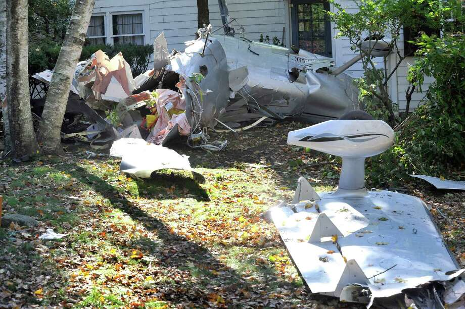 This is the site where a plane crashed on Wooster Mountain Sunday night while approaching Danbury Municipal Airport. The pilot died in the crash. Photographed Monday, Oct. 17, 2011. Photo: Michael Duffy