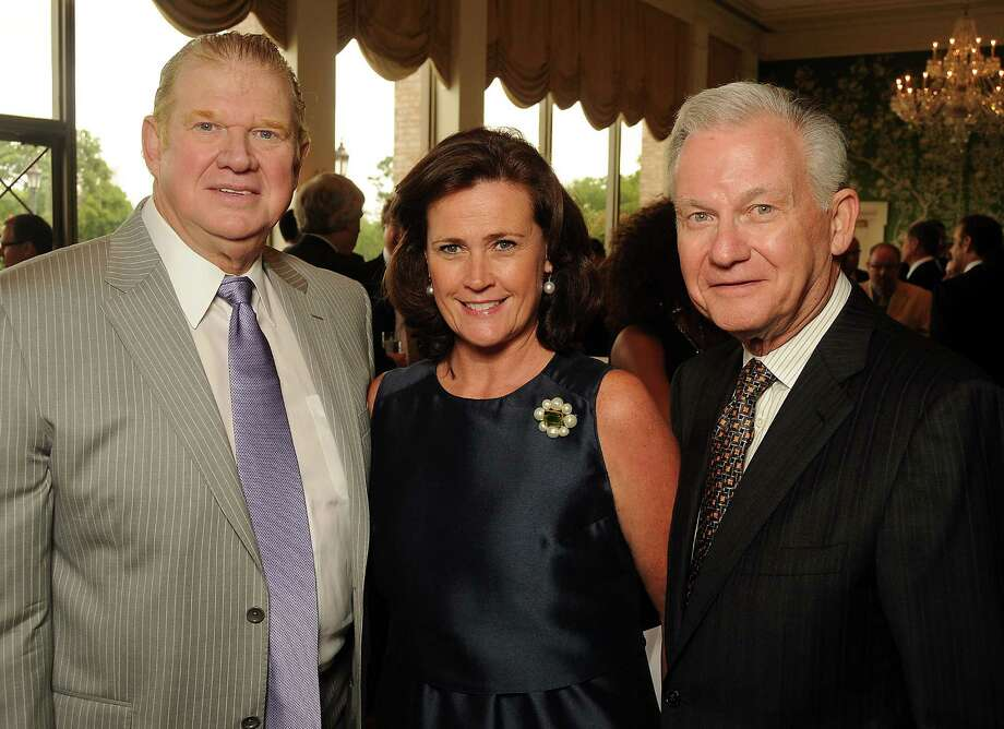 From left: Paul Somerville, Leslie Bennett and Harry Mach at the Men of Distinction luncheon at the River Oaks Country Club Wednesday May 2,2012. (Dave Rossman Photo) Photo: Dave Rossman, For The Chronicle / © 2012 Dave Rossman