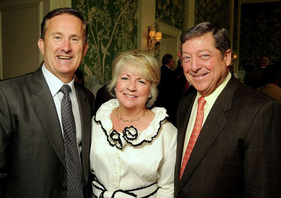 From left: Tony Gracely with Jayne and Jack Kendall at the Men of Distinction luncheon at the River Oaks Country Club Wednesday May 2,2012. (Dave Rossman Photo) Photo: Dave Rossman, For The Chronicle / © 2012 Dave Rossman