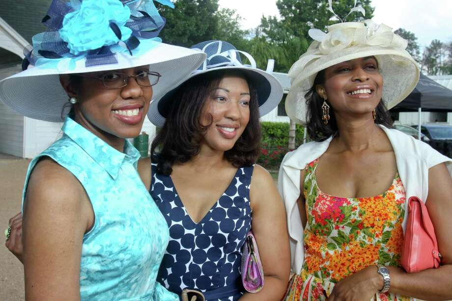 (For the Chronicle/Gary Fountain, April 29, 2012)  Kelly Coleman, from left, Courtney St. Julian and Heather Love at the Triple Crown Polo Fundraiser at the Houston Polo Club. The event is hosted by the Health Museum's Young Professionals Circle. Photo: Gary Fountain / Copyright 2012 Gary Fountain.
