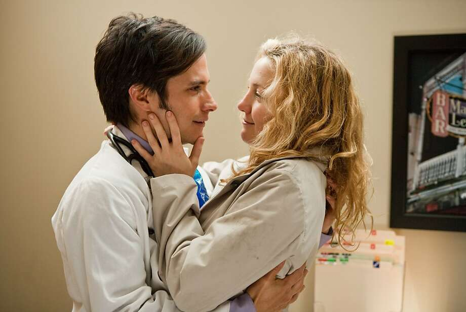 "Dr. Goldstein (Gael Garcia Bernal) and Marley (Kate Hudson) in ""A Little Bit of Heaven."" Photo: Patti Perret, Millennium Entertainment"