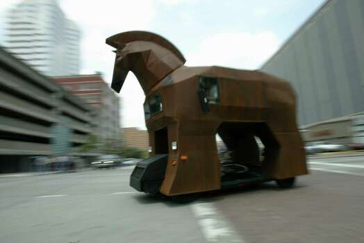 David Moore's Trojan Horse  in 2005. Photo: Kevin Fujii / Houston Chronicle