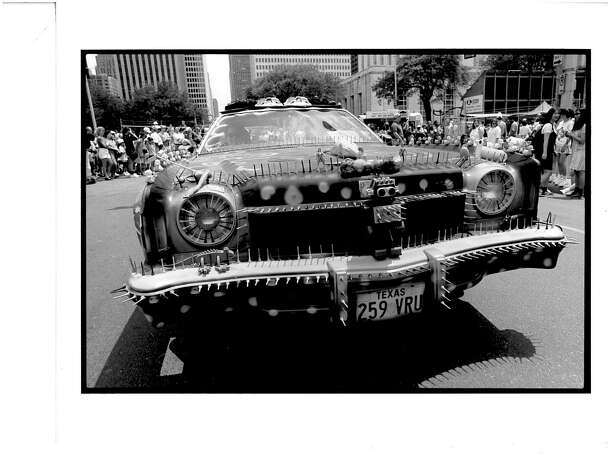 First Houston Art Car Parade in 1988. Photo: Courtesy Of Orange Show Center F / handout