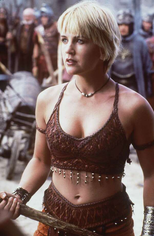Renee O'Connor as Gabrielle, Xena's sidekick. Her relationship with Xena had subtly sexual overtones that reportedly made the show a hit with lesbians. Photo: Universal Television, Universal International Television Via Getty Images / Getty Images North America