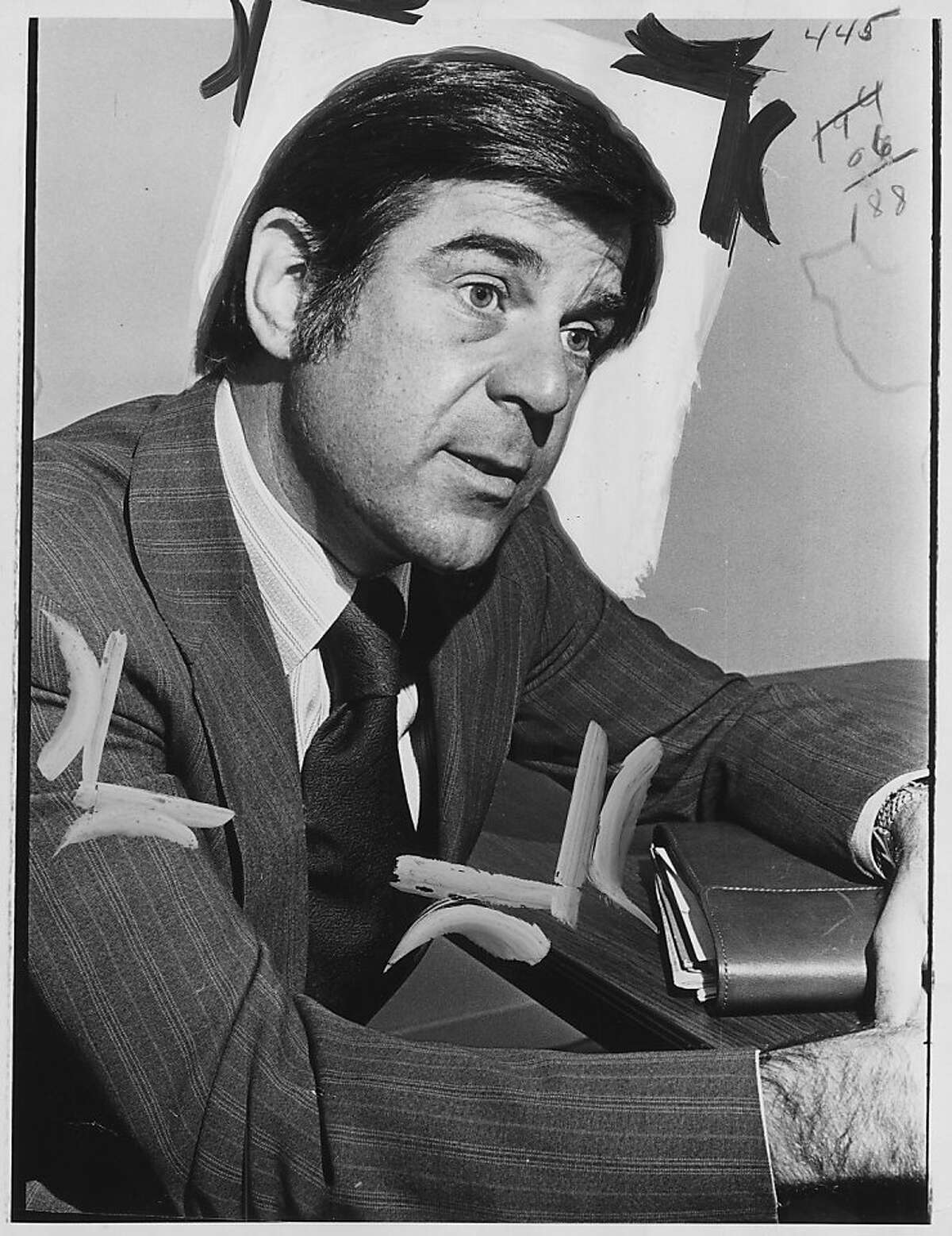 Pete Stark in 1972, running for Congress against Rep. George P. Miller.
