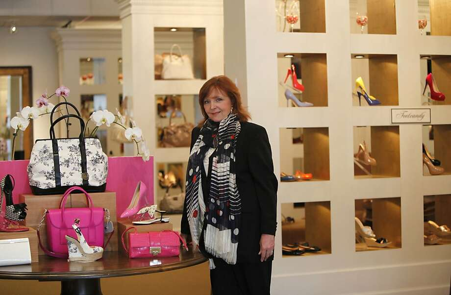 Sally van Slyke, who wrote a tell-all book about her days as a Hollywood movie company executive, shops in Foot Candy, in Walnut Creek, California , on Wednesday, April 25th, 2012. Photo: Jill Schneider