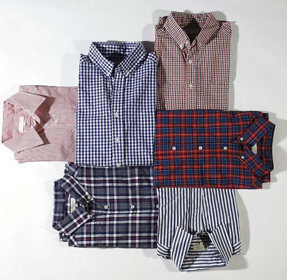 Taylor Stitch's made-in-S.F. men's custom and ready-to-wear shirts will be available at  Banana Republic's Grant Avenue store. Photo: Russell Yip, The Chronicle