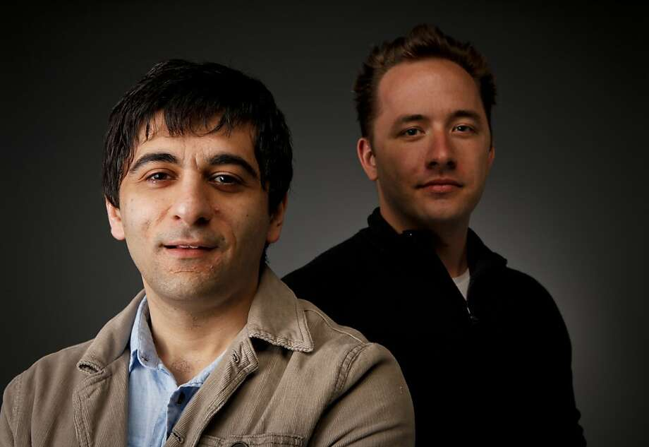 Arash Ferdowsi, left, and Drew Houston, seen on Thursday, April 14, 2011 in San Francisco, Calif., are the founders of Dropbox. Photo: Russell Yip, The Chronicle