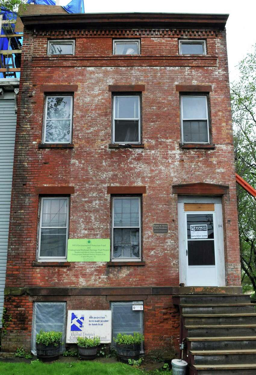 Historic 19thC. home of Stephen & Harriet Myers on Livingston Avenue in Albany Tuesday May 1, 2012. The building once housed offices of the Vigilance Committee and was a stop on the Underground Railroad. (John Carl D'Annibale / Times Union)
