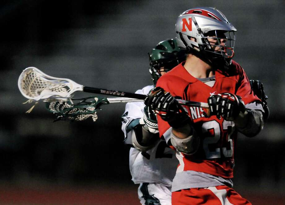 Niskayuna's Justin Picardi (23) looks to pass during their lacrosse game against Shenendehowa on Thursday, May 3, 2012, at Shenendehowa High in Clifton Park, N.Y. (Cindy Schultz / Times Union) Photo: Cindy Schultz /  00017546A