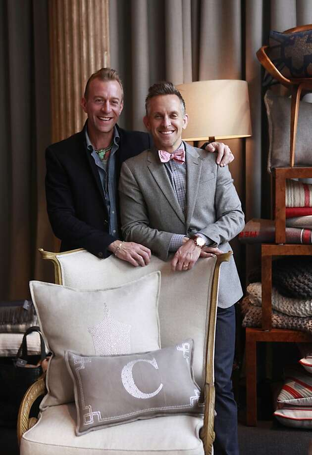 Michael Purdy and Jay Jeffers inside of the new home furnishing store Cavalier, in San Francisco, California onTuesday, April 17, 2012. Photo: Jill Schneider