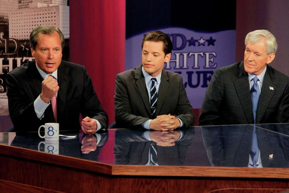U.S. Senate candidates (from left) Lt. Gov. David Dewhurst, Democrat Sean Hubbard and Republican Tom Leppert participate in a debate on the University of Houston campus  on Thursday, May 3, 2012. Photo: Mayra Beltran, Houston Chronicle / © 2012 Houston Chronicle