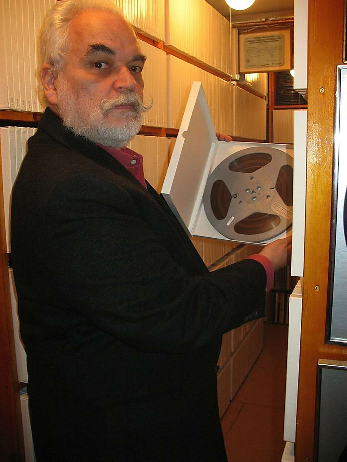 In this photo taken Monday, April 30, 2012, J. David Goldin, shows his radio collection in Sandy Hook, Conn. Goldin, a retired radio engineer helped catch a thief stealing recordings from the National Archives. J. David Goldin donated the recordings to the archives in the late 1970s. More than 30 years later, he helped catch the person selling them online. (AP Photo/Jessica Anne Gresko) Thank you, Jessica