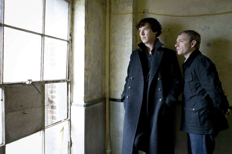 """Best performance by an actor in a mini-series or a motion picture made for television:Benedict Cumberbatch, left, """"Sherlock"""" Photo: BBC / HARTSWOOD FILMS FOR MASTERPIECE"""