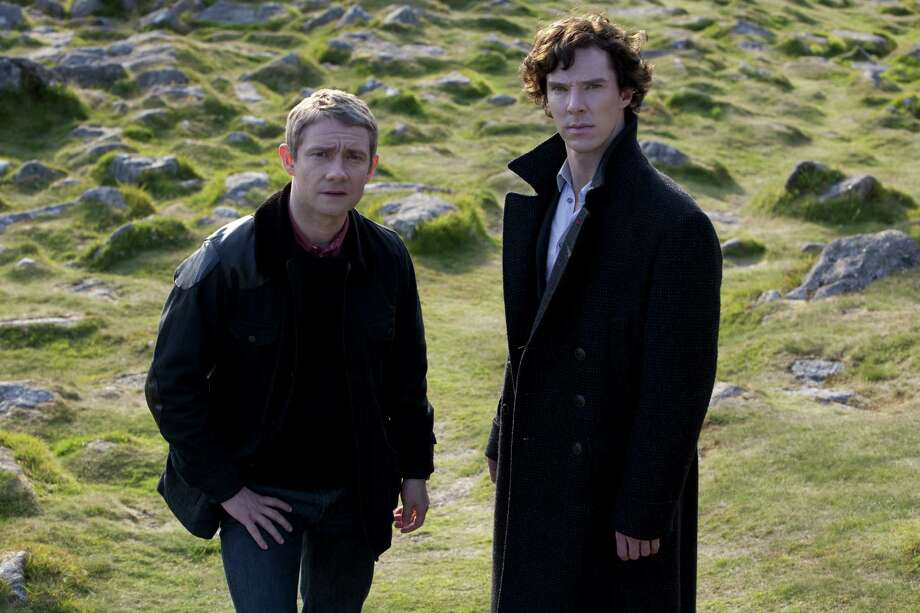 "Benedict Cumberbatch (right) and Martin Freeman are back in ""Sherlock."" Photo: BBC"