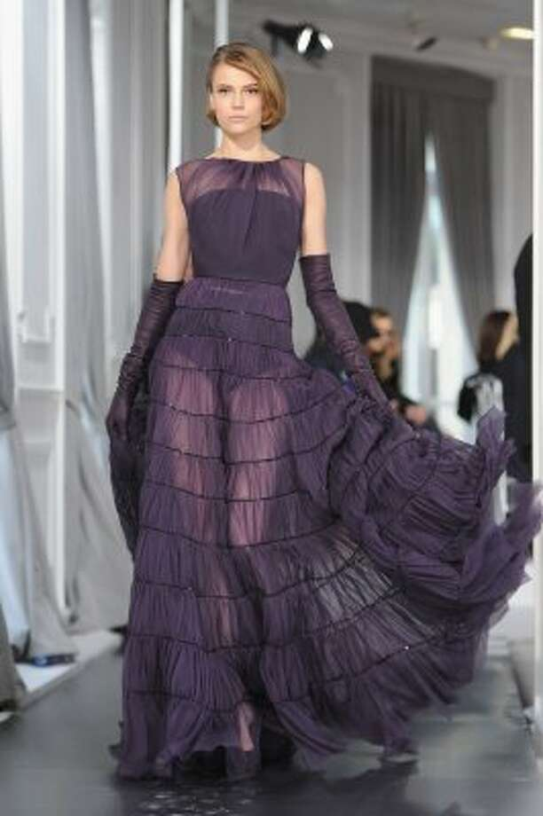 This runway look comes from the Dior Haute-Couture show in Paris in January.  (Pascal Le Segretain / Getty Images)
