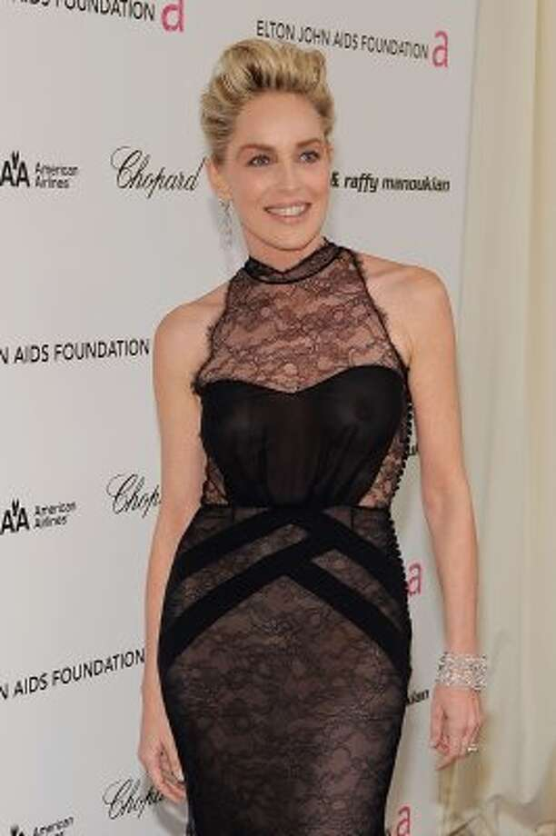 Sometimes you want sheerness to announce your braless state, yes? Sharon Stone probably knows.  (Larry Busacca / 2009 Getty Images)