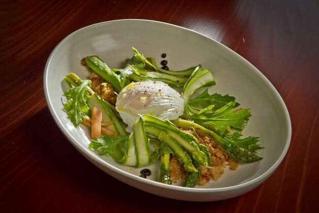 The Asparagus and Farm Egg at Maven Restaurant in San Francisco, Calif., is seen on Thursday, April 27th, 2012. Photo: John Storey, Special To The Chronicle