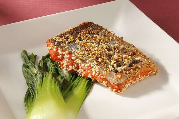 Spiced Millet-Coated Salmon (from Hiroko Nagano) as seen in San Francisco, California on Wednesday, May 2, 2012. Food styled by Janny Hu. Photo: Craig Lee, Special To The Chronicle