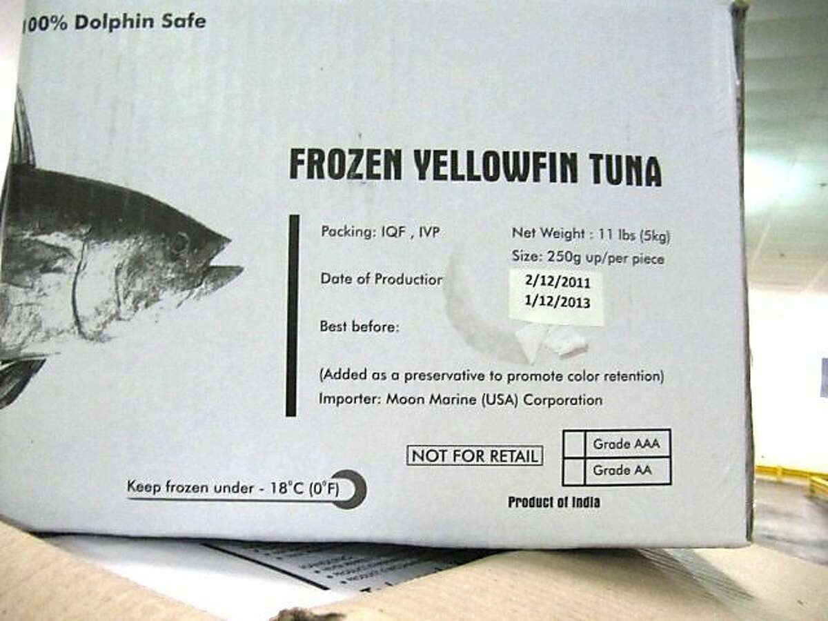 Nakaochi Scrape raw yellowfin tuna product from a Cupertino seafood importer has been linked to more than 100 salmonella infections in February and March, officials said.