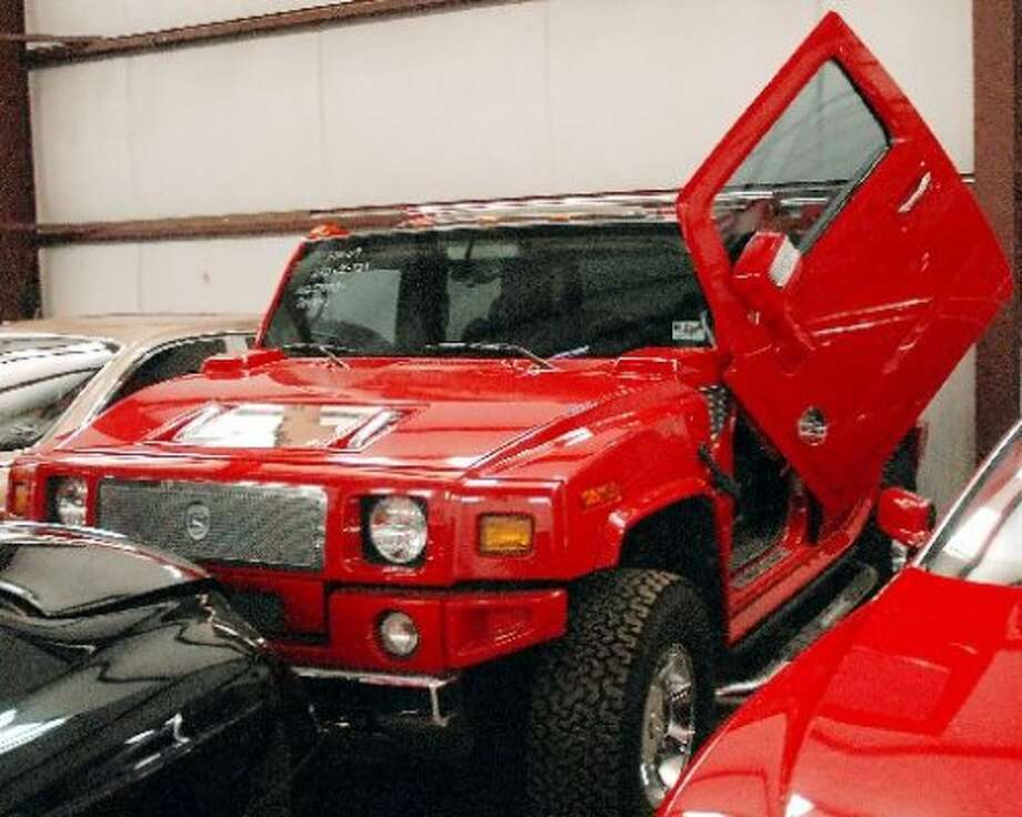 A Hummer that belonged to Raul Madrigal, but was confiscated by the feds and sits in storage. (Houston Chronicle)