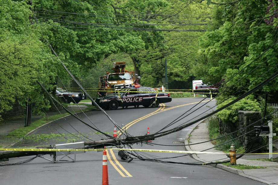 Lake Avenue reopens after pole, wires come down - GreenwichTime