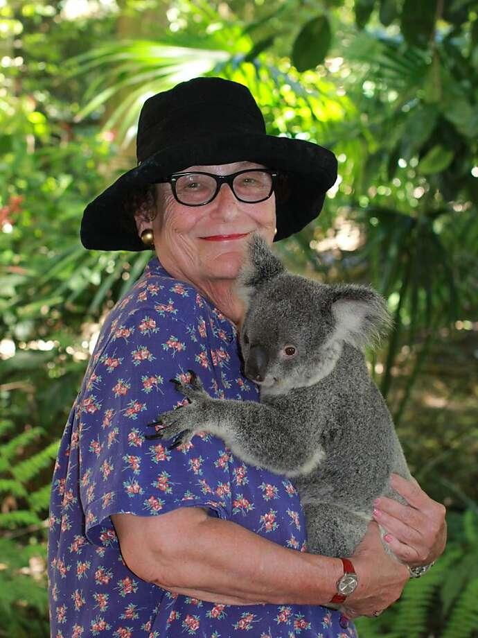 Frances Hildebrand of San Francisco with McKenzie in Brisbane, Australia. Photo: Courtesy Frances Hildebrand