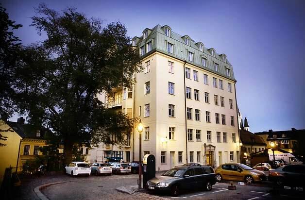"The house at Fiskargatan 9 where Lisbeth Salander buys her 21-room flat in ""The Girl With The Dragon Tattoo."" Photo: Thomas Karlsson"