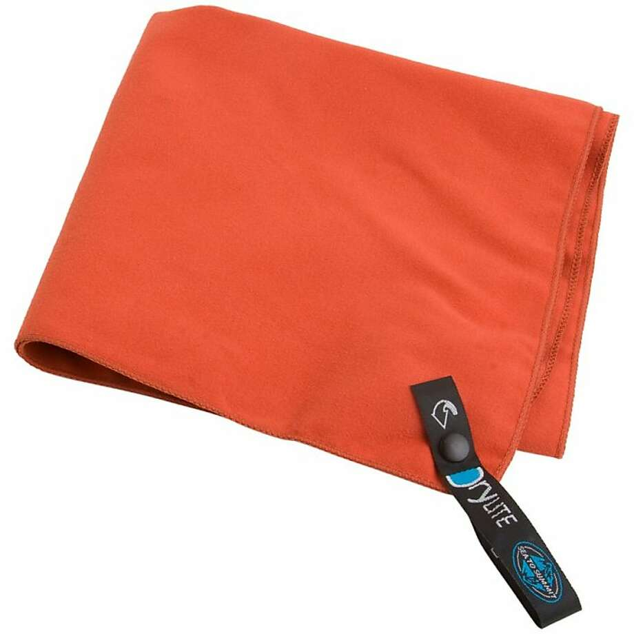 Sea to Summit Dry Lite Towel comes in several sizes -- weighing from 1.3 ounces to 8.1 ounces --and is amazingly absorbent. Photo: Backcountry.com