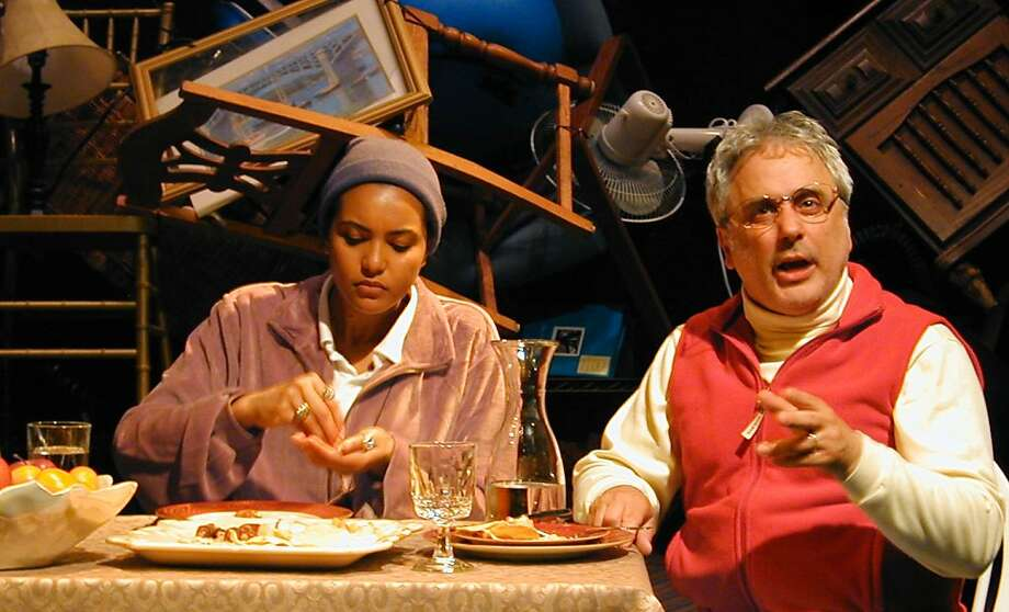 "Rebecca Frank (left) and David Sinaiko play Cadillac Hotel owners and community activists Kathy and Leroy Looper in Cutting Ball Theater's ""Tenderloin"" Photo: Rob Melrose"
