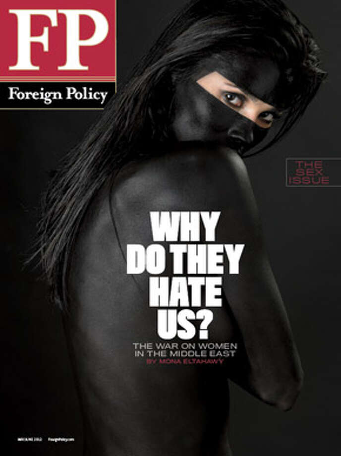 The cover of Foreign Policy magazine featuring Mona Eltahawy's article on women's rights in the Middle East.