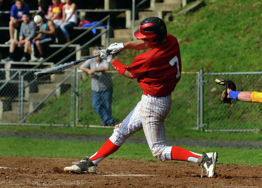 Highlights from boys baseball action between Seymour and Derby in Derby, Conn. on Friday May 4, 2012. Photo: Christian Abraham / Connecticut Post