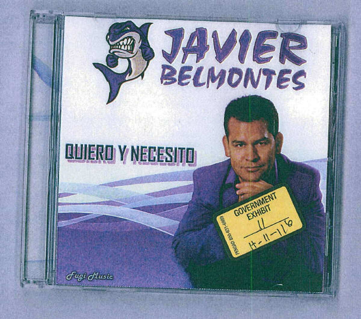 Javier Belmontes, shown on his 2007 CD cover, sang a song about heartbreak and run-ins with the law, some of which later came true for him in real life.