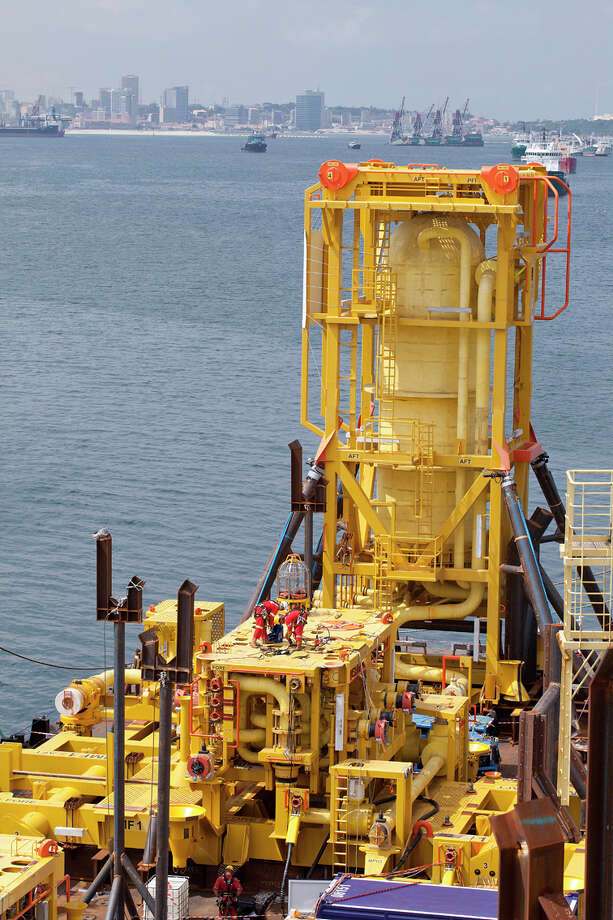 Using the Pazflor Subsea Separation System, developed by FMC and TOTAL, the Pazflor field is the first full-scale greenfield development with subsea separation and boosting to produce two different grades of oil. Photo courtesy of FMC Technologies Photo: NA / courtesy photo
