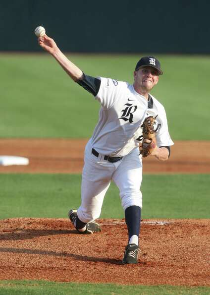 Rice starting pitcher Matthew Reckling (29) against the University of Houston at Reckling Park on Fr