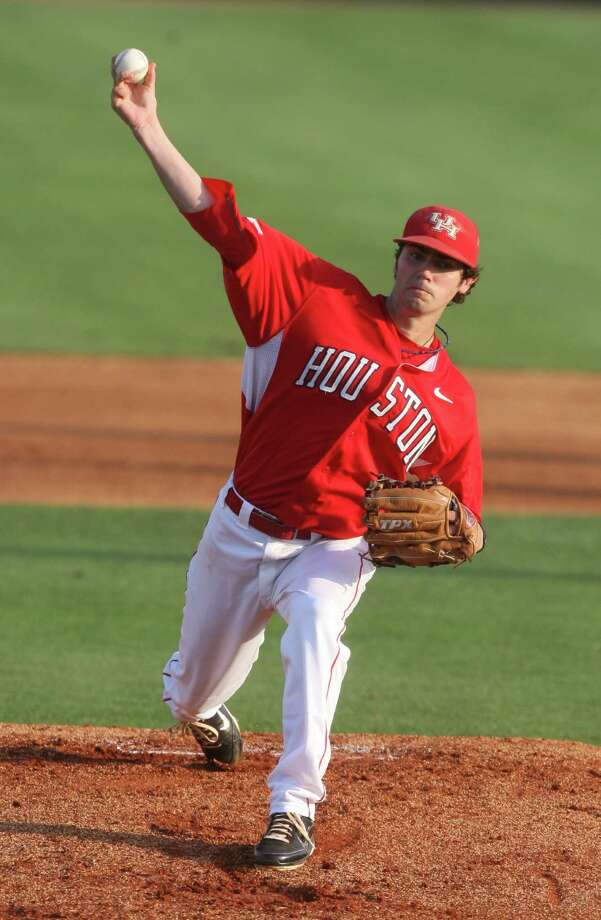 University of Houston starting pitcher Austin Pruitt (36) against the Rice Owls at Reckling Park on Friday, May 4, 2012 in Houston, Texas. Photo: J. Patric Schneider, For The Chronicle / Houston Chronicle