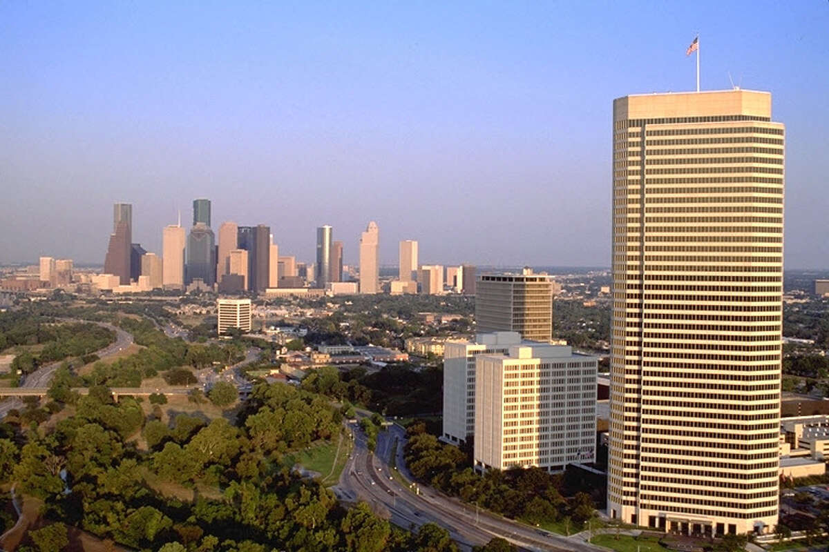 20.American General Center Named after:American International Group, an insurance corporation. Height:590ft.