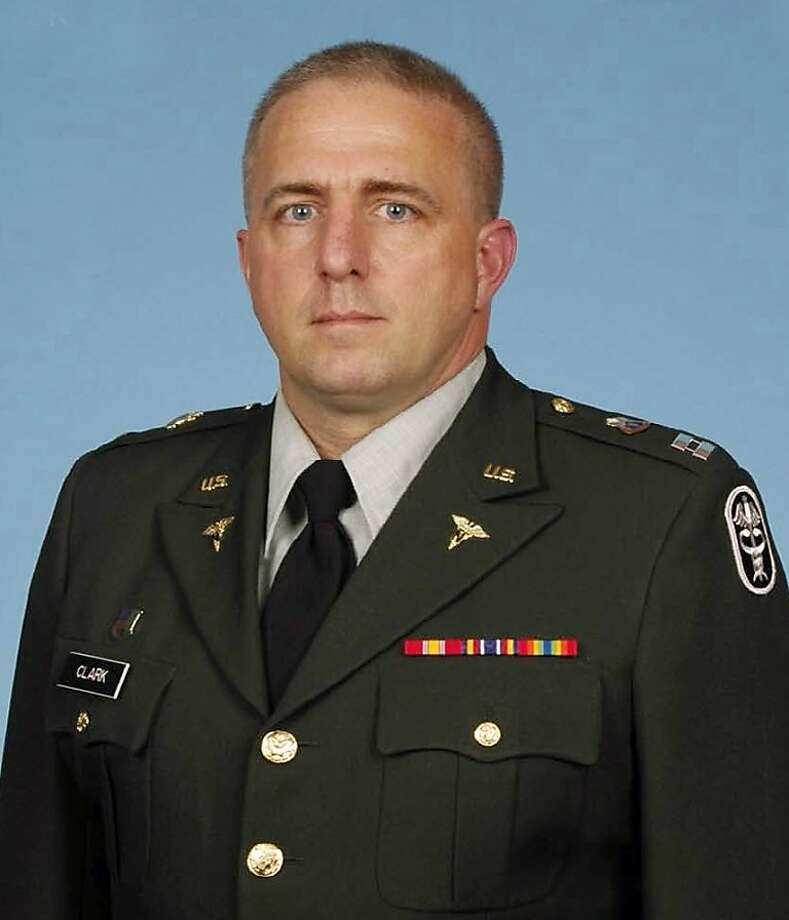 This undated photo provided by the U.S. Army shows  Capt. Bruce Kevin Clark. The family Clark, a Texas-based Army medic serving in Afghanistan, says Clark's wife witnessed the officer's death, which happened Monday, April 30, 2012 as the two were video chatting via Skype. (AP Photo/U.S. Army) Photo: Associated Press